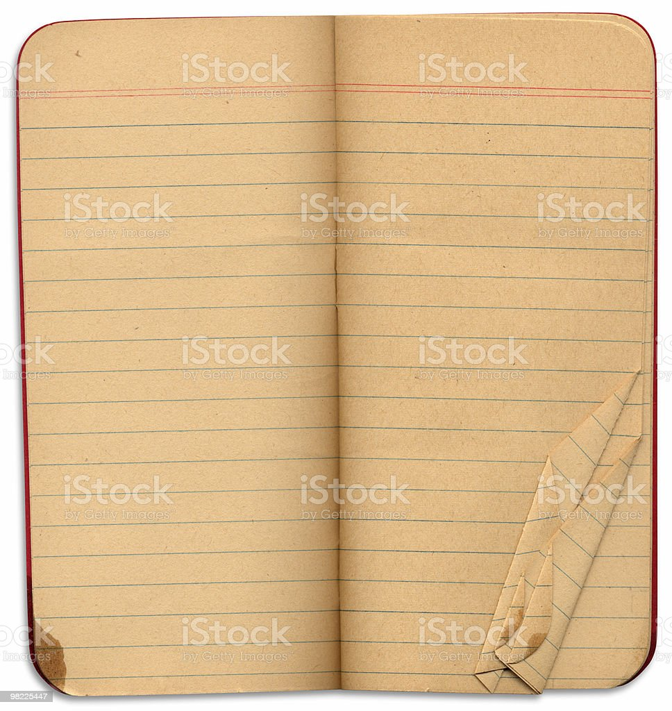 Red Pocket Book with Clipping Path XXL royalty-free stock photo