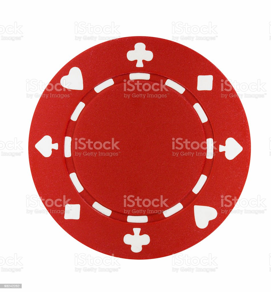 Red Poker Chip royalty-free stock photo
