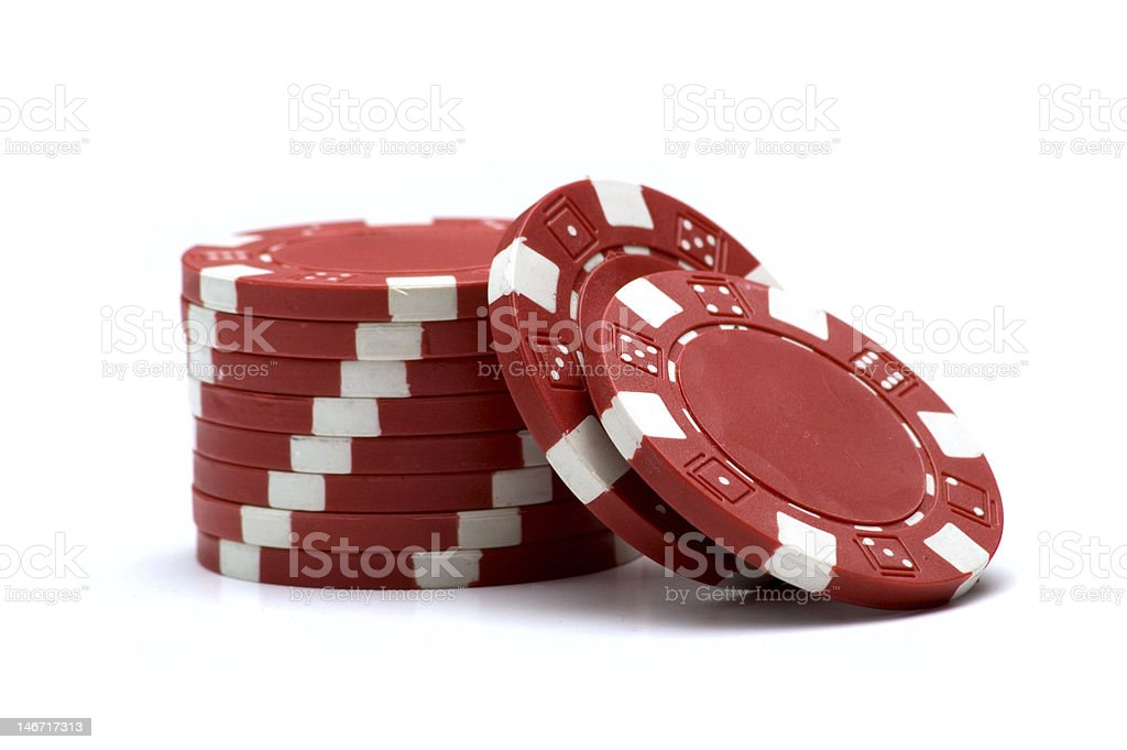 Red Poker Chips royalty-free stock photo