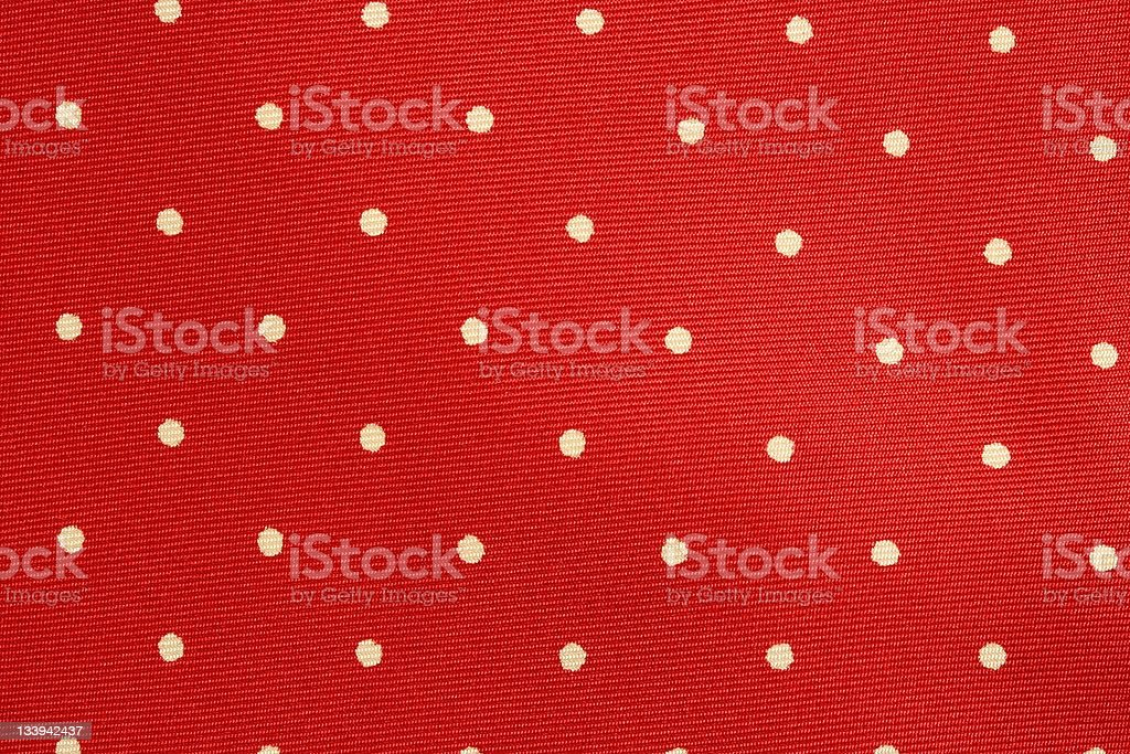 Red polka dot fabric background royalty-free stock photo