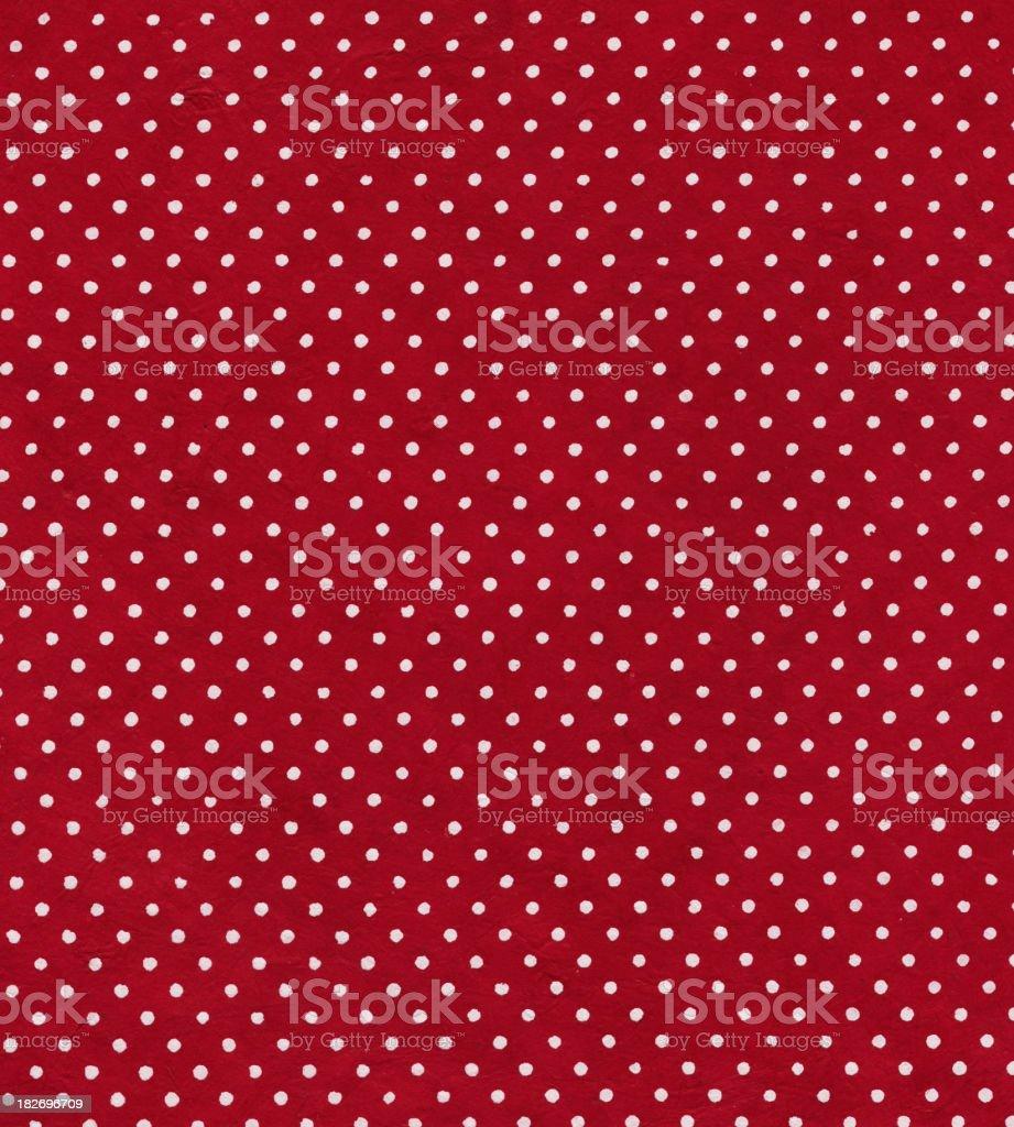 red polka dot paper royalty-free stock photo
