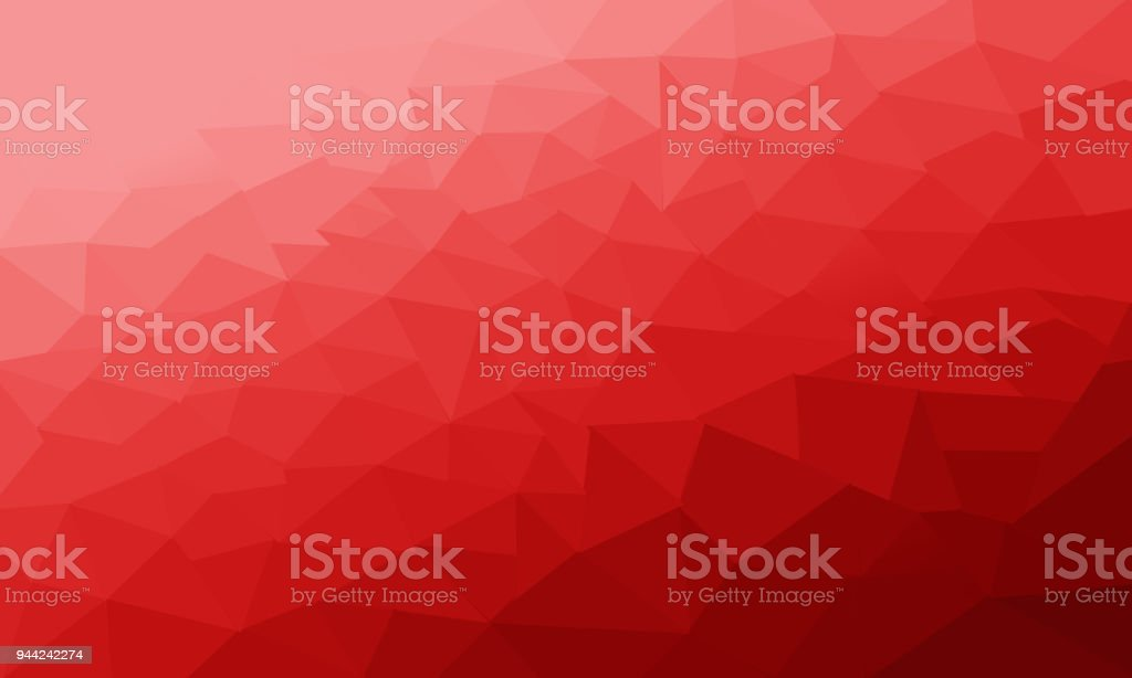 Red Polygonal Background, Abstract textured stock photo