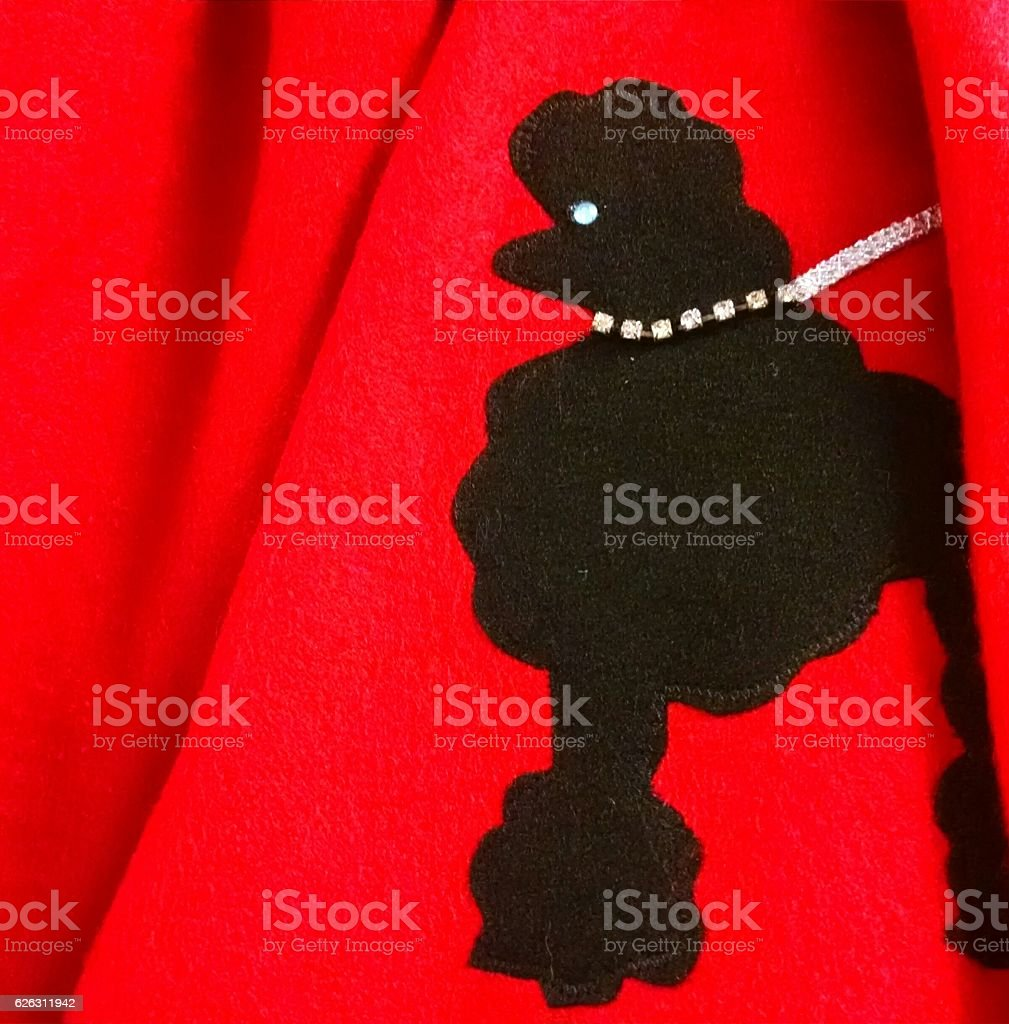 Red Poodle Skirt stock photo