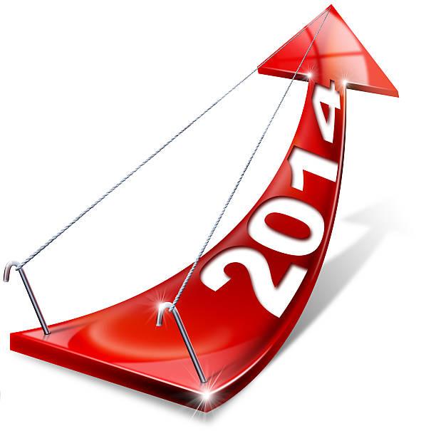 red positive pfeil 2014 - bundeshaushalt 2014 stock-fotos und bilder