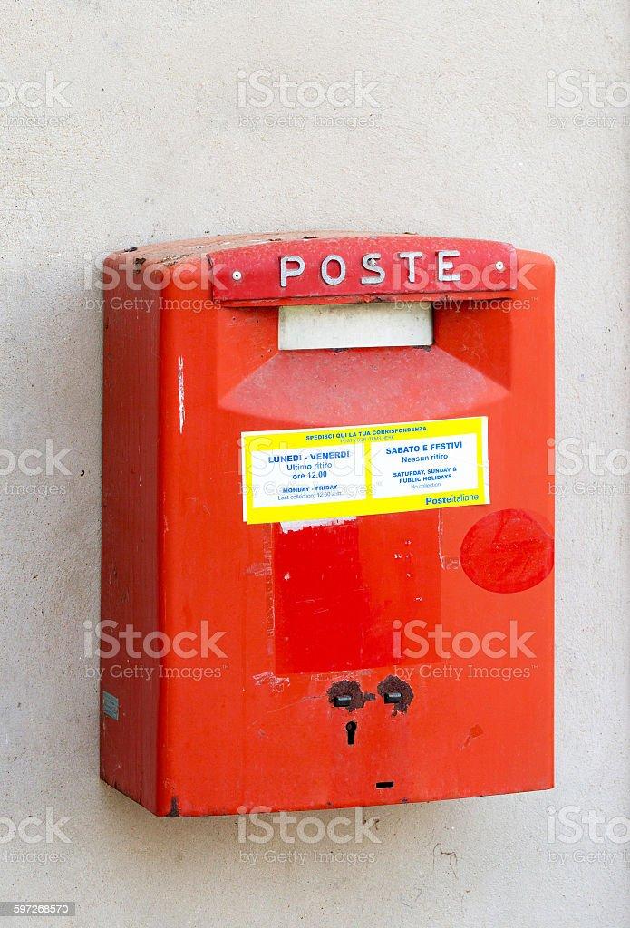 Rouge Boîte postale  photo libre de droits