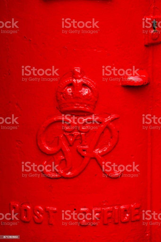 Red post box stock photo