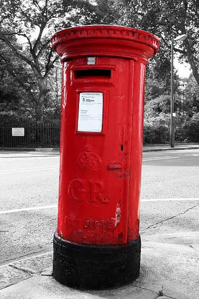 Rosso casella postale-Londra - foto stock