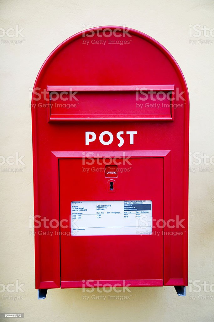Red postbox royalty-free stock photo