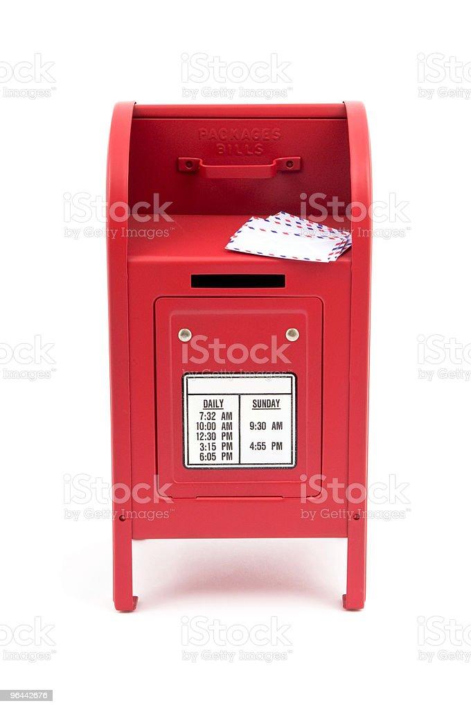 Red Postbox - Royalty-free Autoriteit Stockfoto