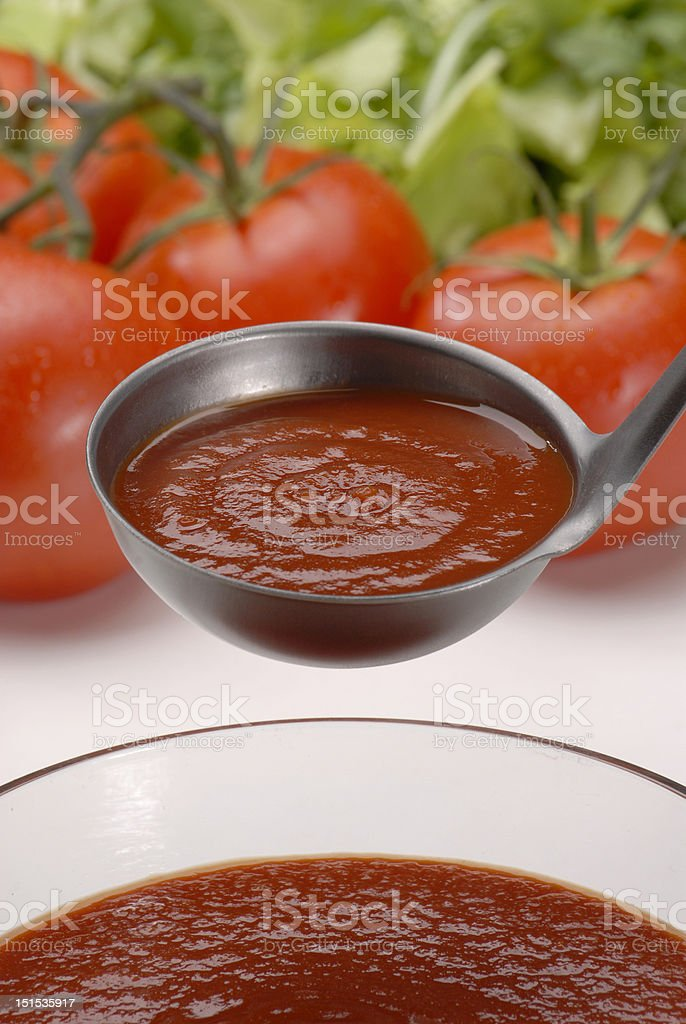 Red potassium soup royalty-free stock photo