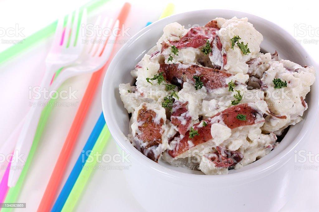 Red Potato Salad royalty-free stock photo