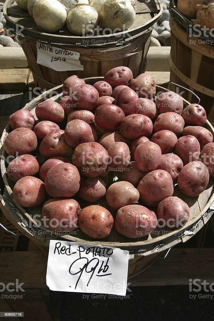 Red Potatoes at Farmer's MArket royalty-free stock photo