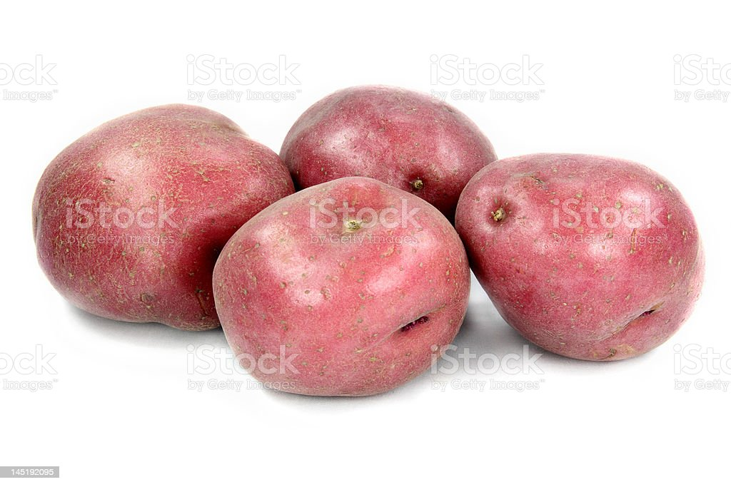 Red potatoes. stock photo