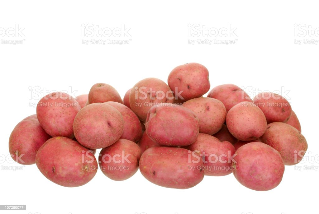 red potatoes stock photo