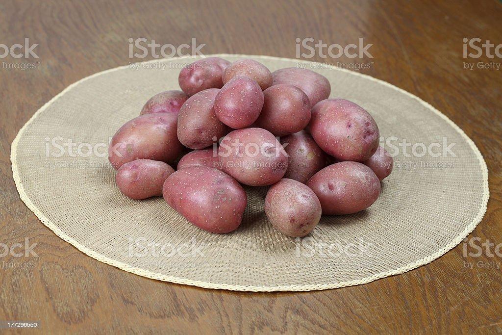 Red potatoes stock photo