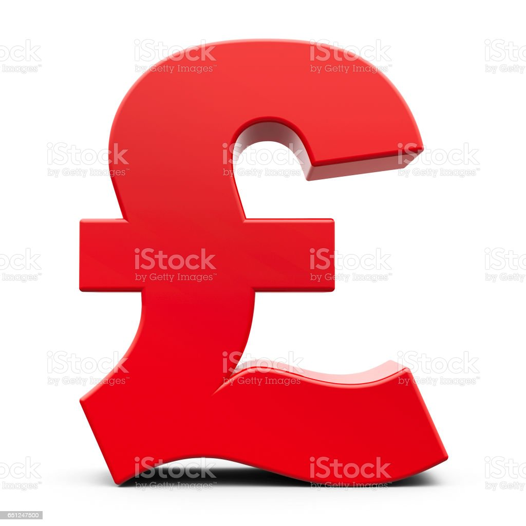 Red pound sign stock photo