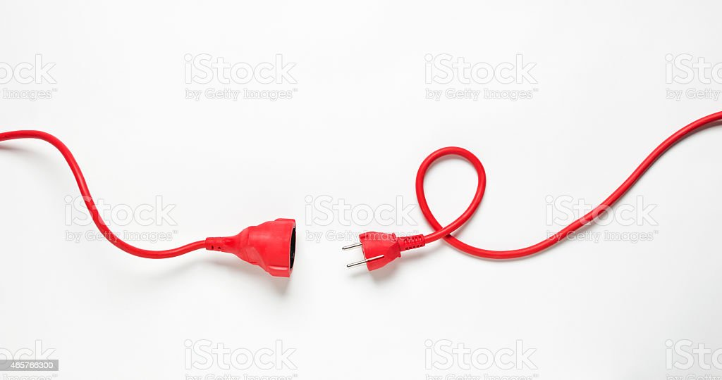Red Power Cable royalty-free stock photo