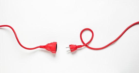 Red Power Cable Stock Photo - Download Image Now