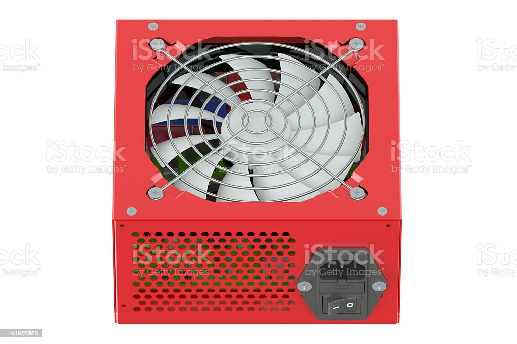 Red Power Supply Unit stock photo