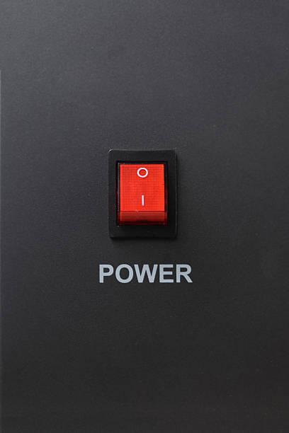 rouge interrupteur en position off - commutateur photos et images de collection