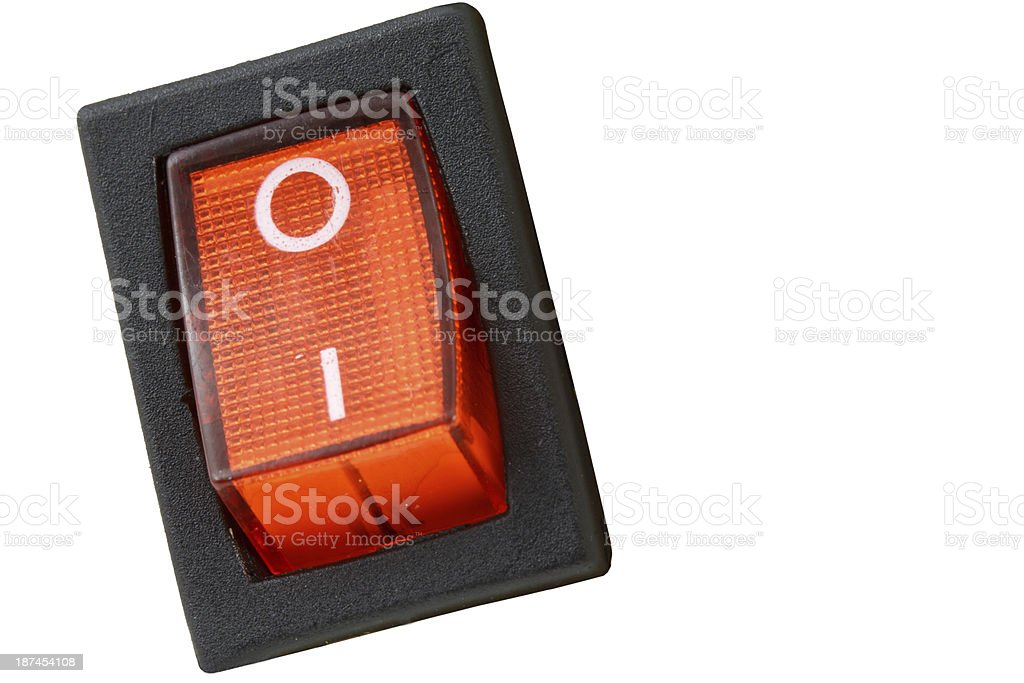 Red power switch royalty-free stock photo