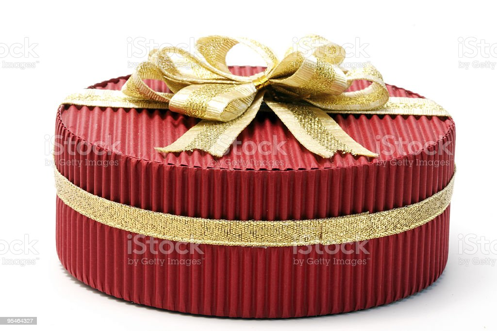Red present box royalty-free stock photo