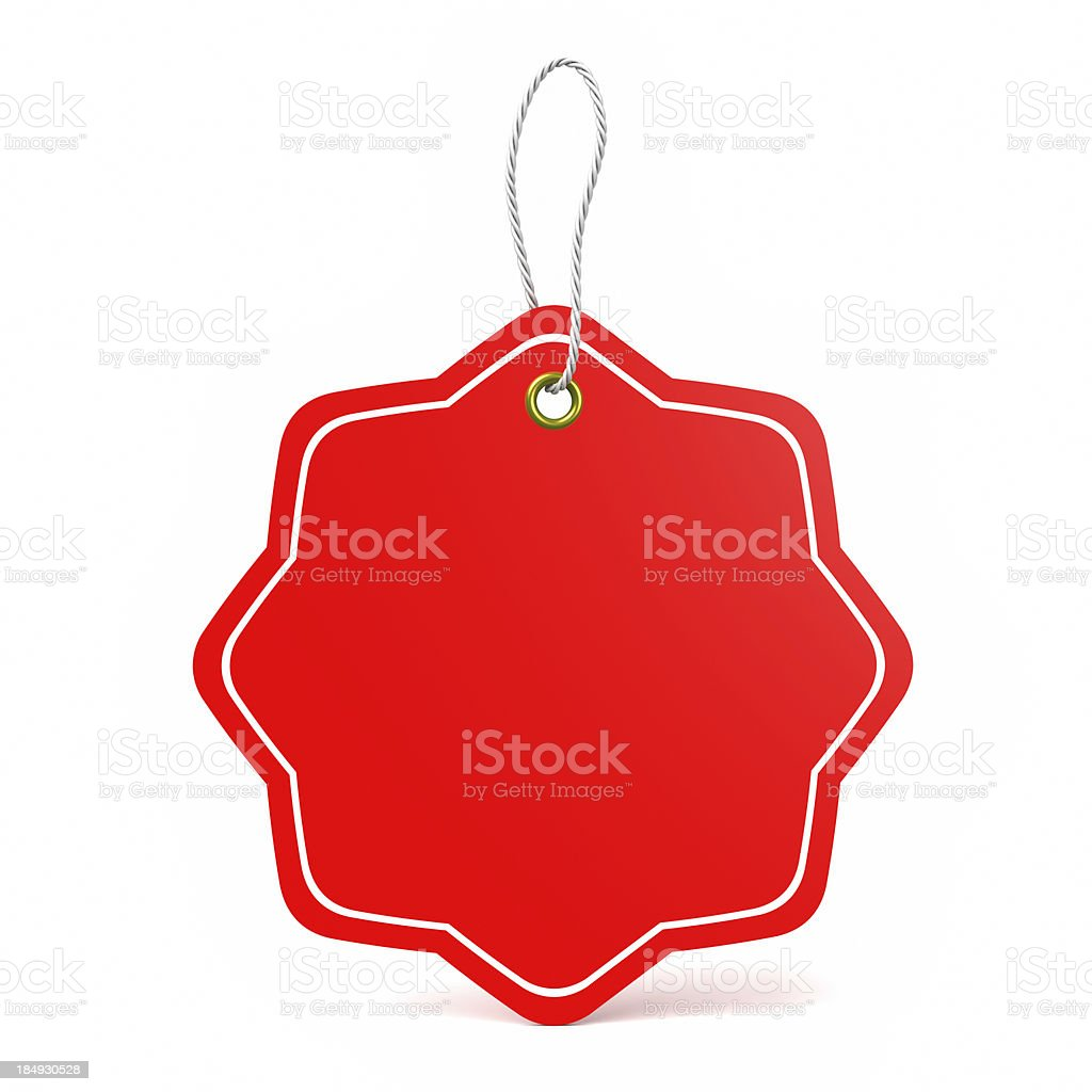 Red price tag stock photo