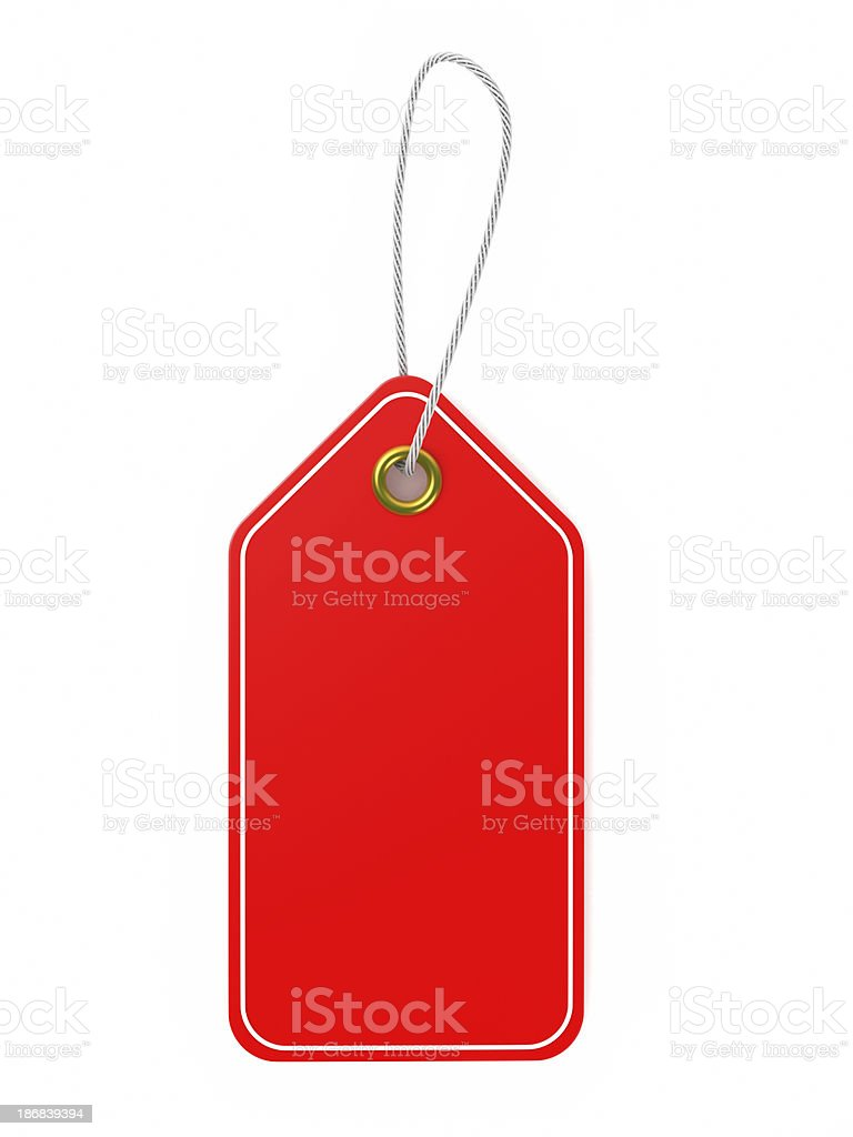Red price tag royalty-free stock photo
