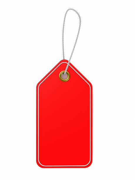 red preis tag - günstige weihnachtsgeschenke stock-fotos und bilder