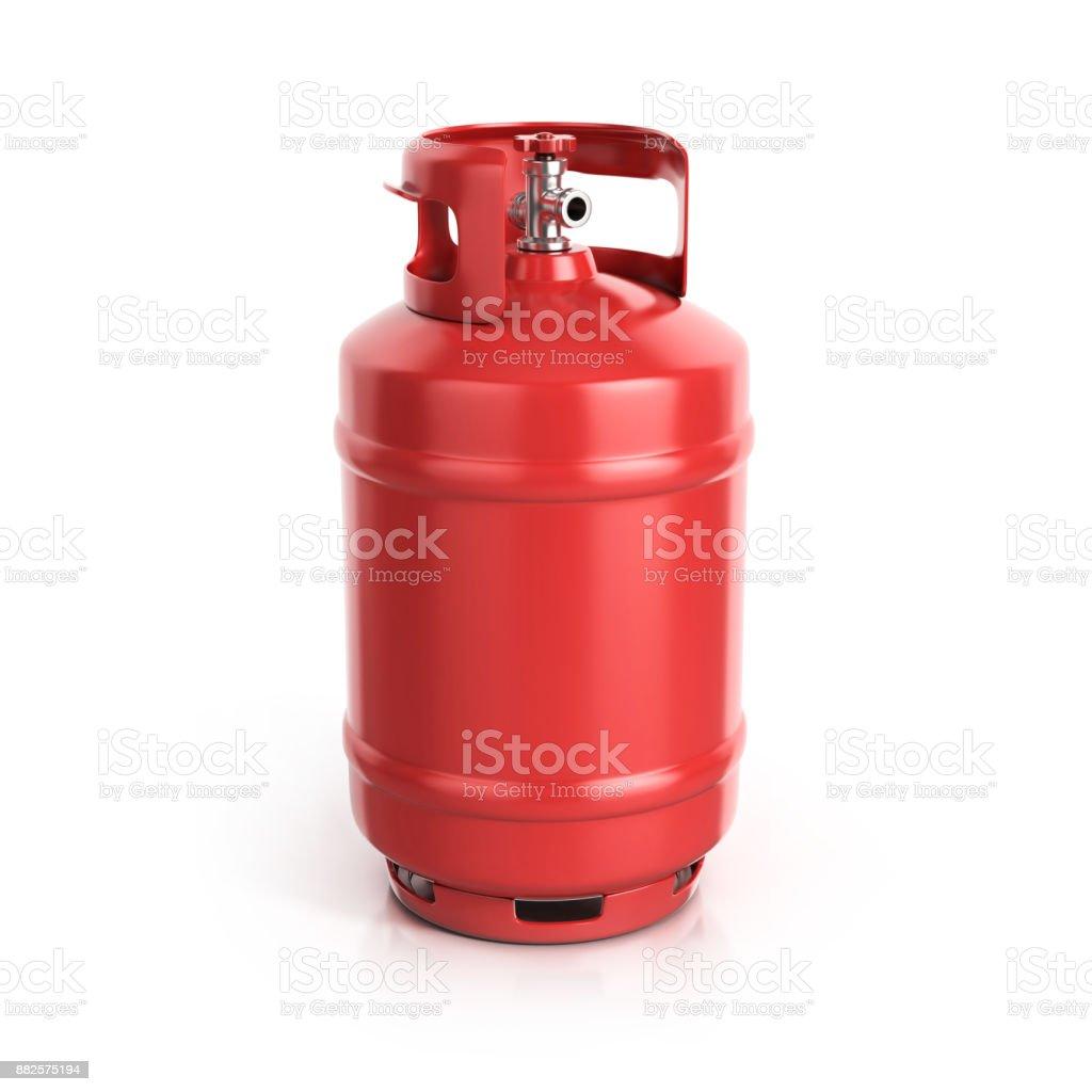 photo libre de droit de bouteille de propane rouge avec. Black Bedroom Furniture Sets. Home Design Ideas
