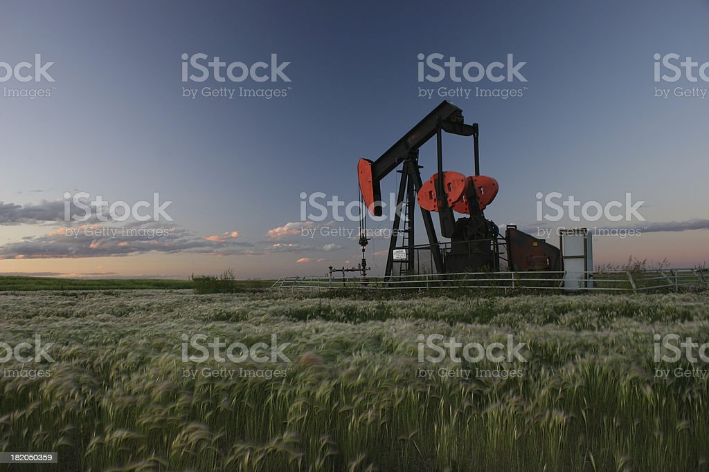 Red Pumpjack royalty-free stock photo