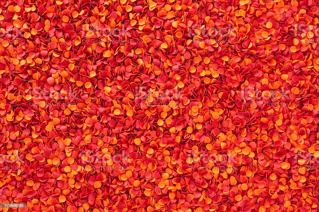 Red punched paper dots royalty-free stock photo