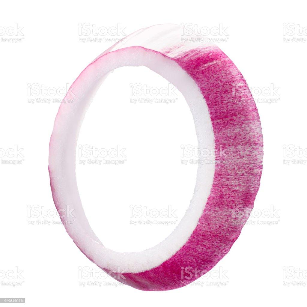 Anéis de cebola roxa vermelha, caminho - foto de acervo