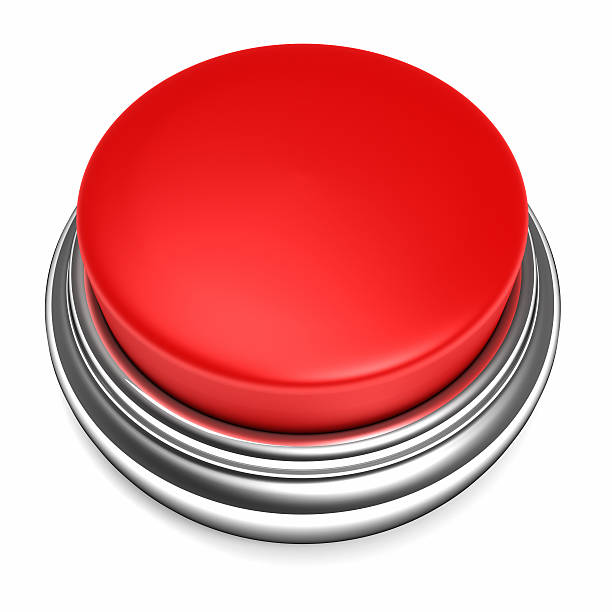 red push button - button stock photos and pictures