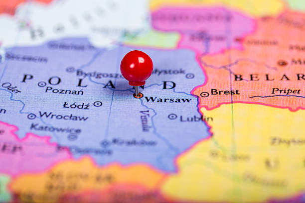 Royalty Free Map Of Warsaw Poland Pictures, Images and Stock Photos ...