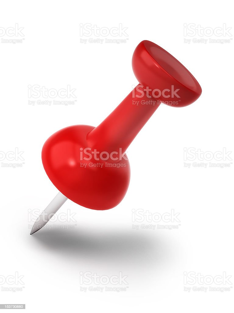 Red push pin royalty-free stock photo