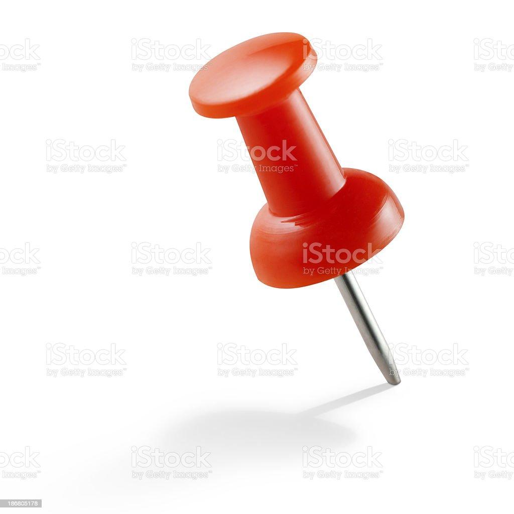 Red push pin stock photo