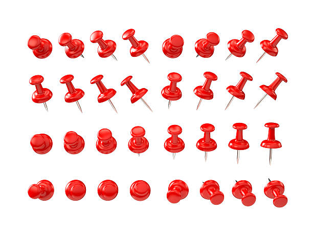 Red pushpin, différentes formes - Photo