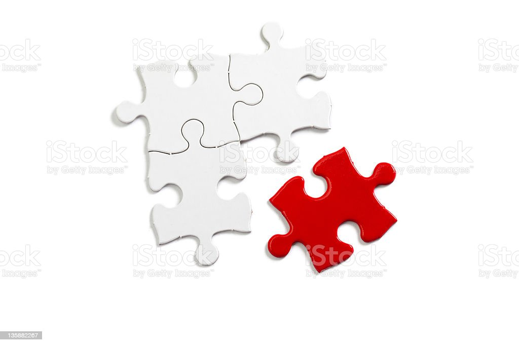 Red Puzzle royalty-free stock photo