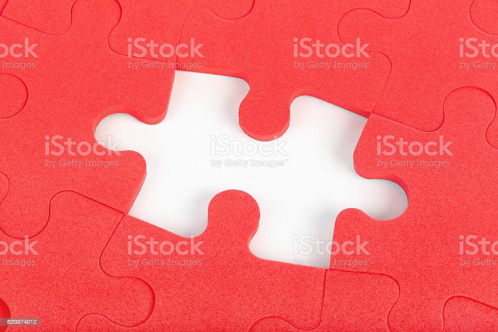 Vermelho puzzle' foto de stock royalty-free