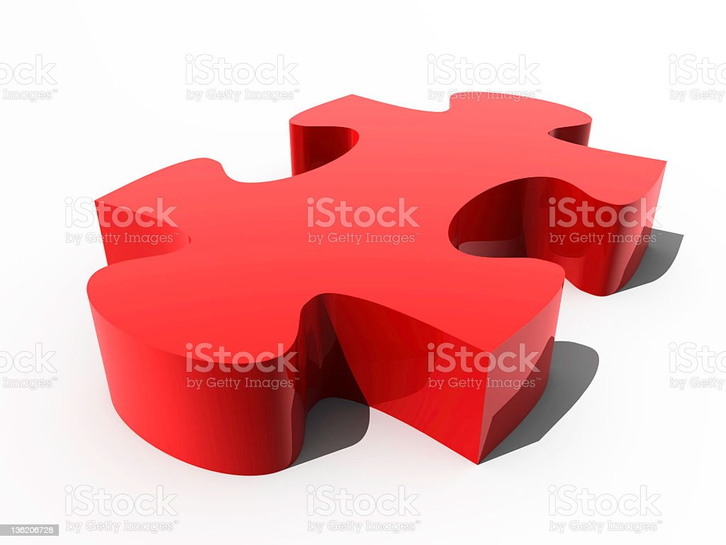 Red puzzle piece royalty-free stock photo
