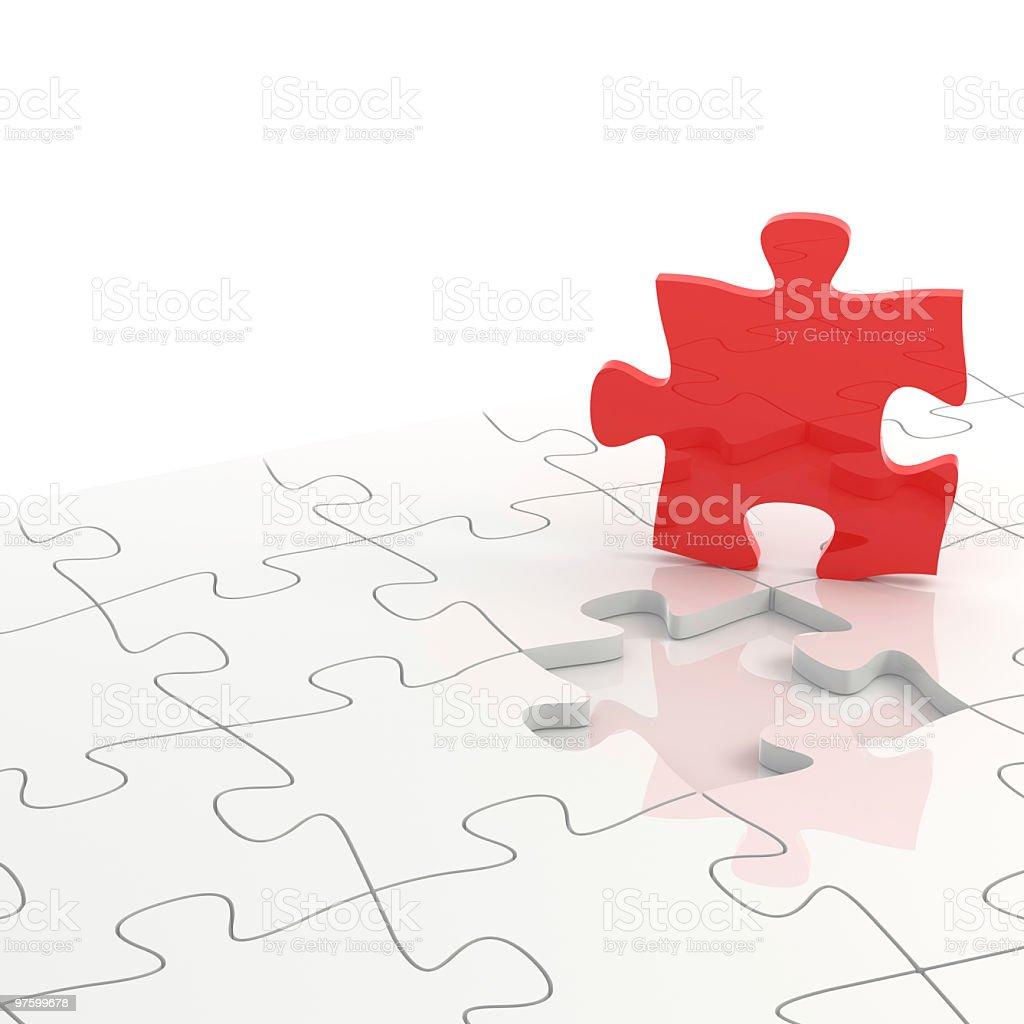 Pièce du Puzzle rouge photo libre de droits