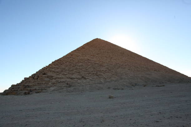 Red Pyramid of Egypt stock photo