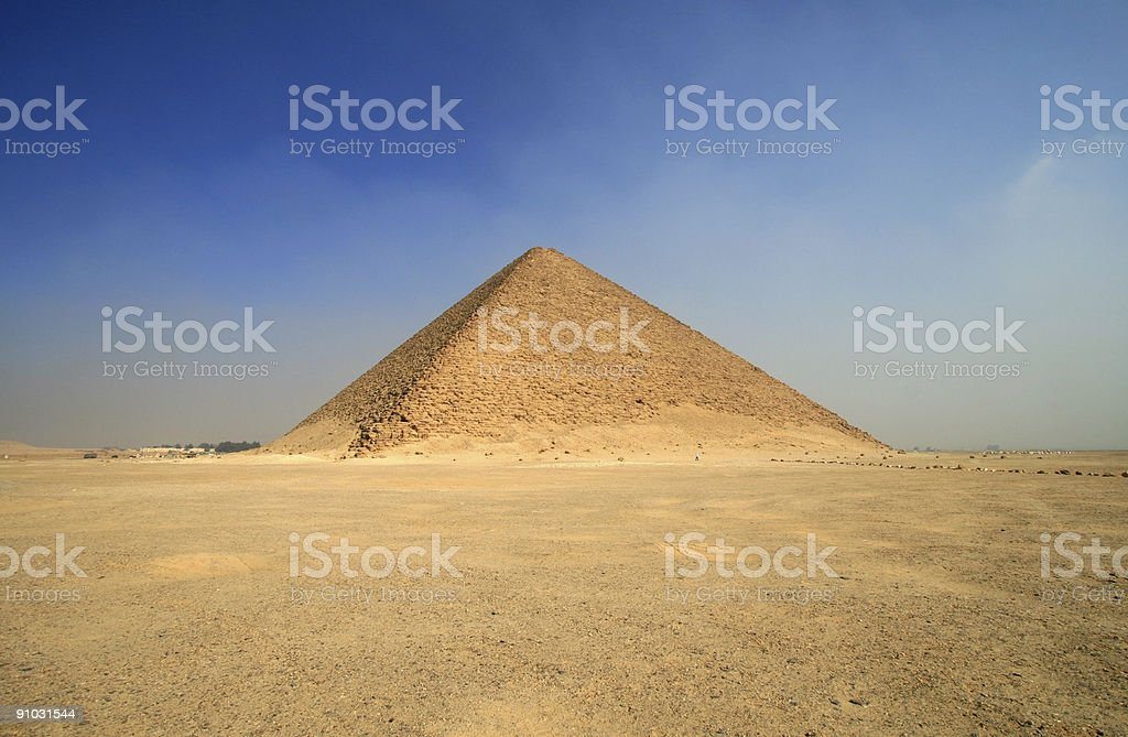 Red Pyramid of Sneferu in Dahshur, Egypt royalty-free stock photo