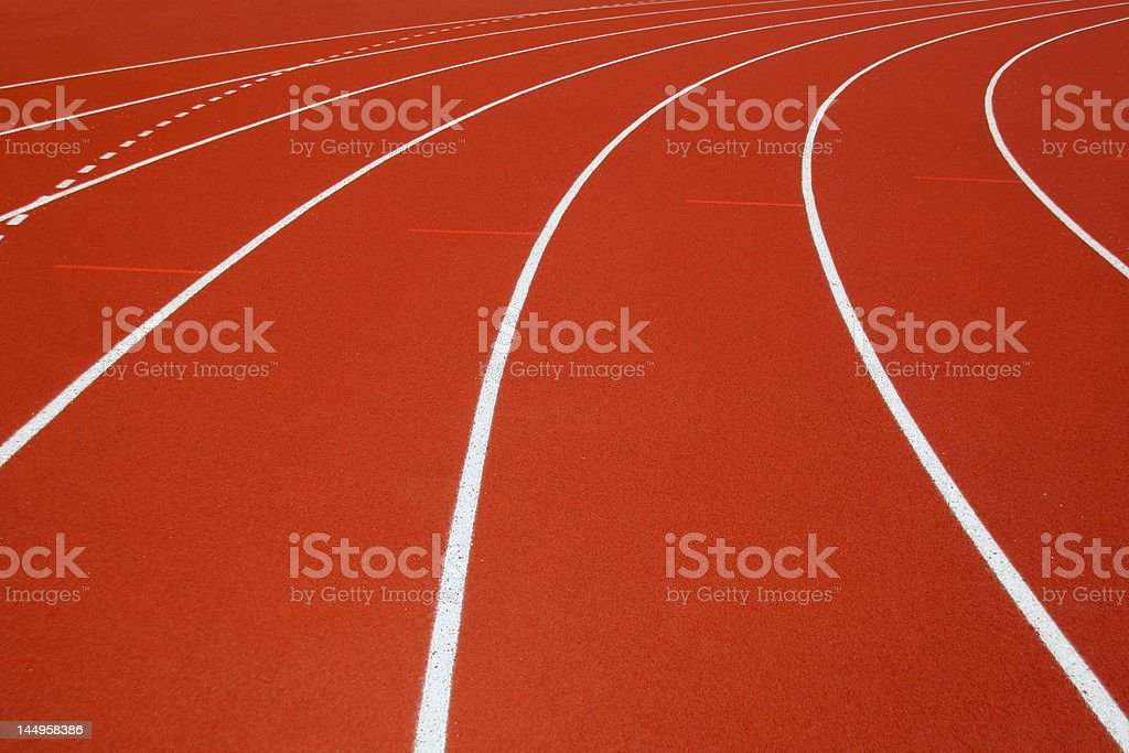 red race track in an arena royalty-free stock photo