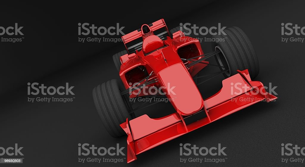 Red racing car royalty-free stock photo