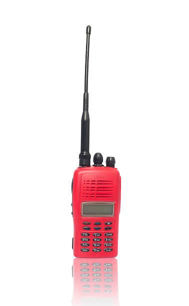 red radio communication - ham radio stock photos and pictures