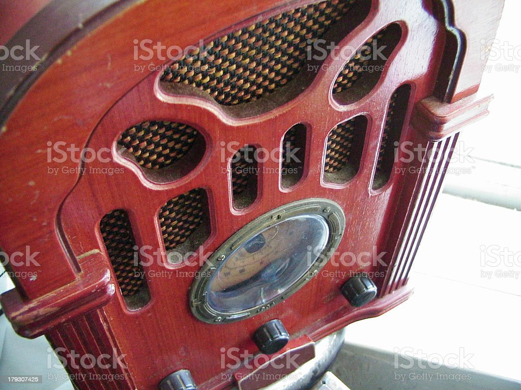 red radio stock photo