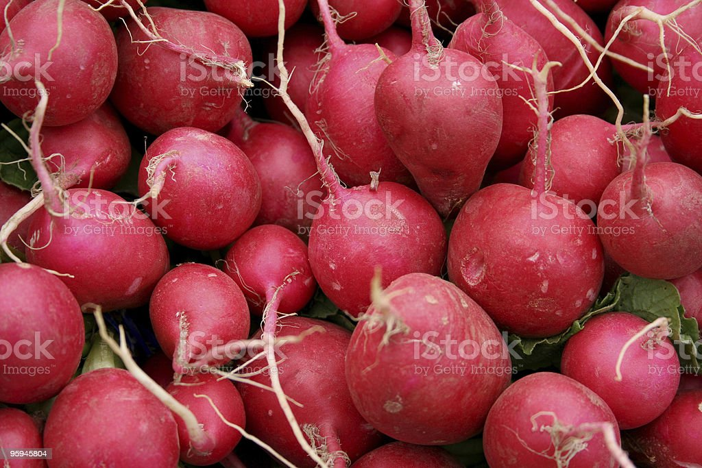 Red Radishes Detail royalty-free stock photo