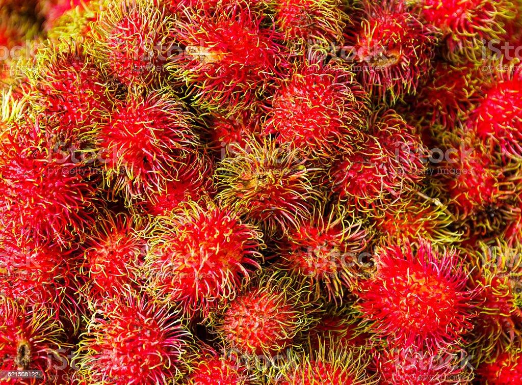 Red rambutan Lizenzfreies stock-foto